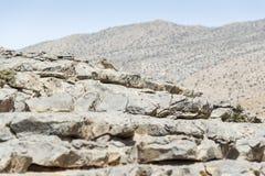 Rocks Jebel Shams. Image of rocks on mountain Jebel Shams in Oman stock image