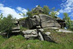 Rocks in Jizerske Hory Royalty Free Stock Photography