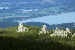 Rocks in Karkonosze mountains Stock Image