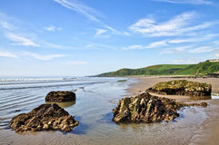 Rocks at Killantringan Bay, Dumfries and Galloway Stock Photography