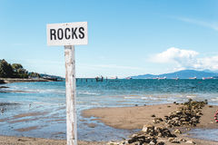 Rocks at Kitsilano Beach in Vancouver, Canada Royalty Free Stock Photo