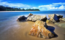 Rocks at Kuala Ibai beach Royalty Free Stock Photo