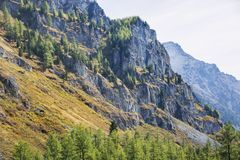 Kuiguk walley. Altai mountains landscape. Rocks in Kuiguk walley. Altai mountains landscape Royalty Free Stock Photography