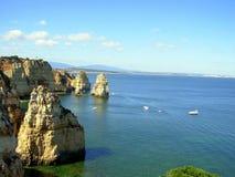 Rocks in Lagos. Algarve.Portugal stock images