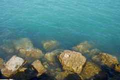 Rocks in the water. Royalty Free Stock Photography
