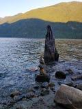 Rocks in a lake royalty free stock image