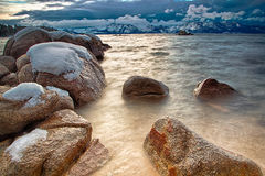 Rocks in Lake Tahoe Stock Photography