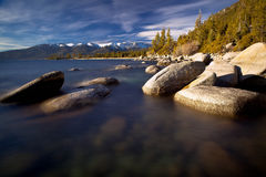 Rocks in Lake Tahoe Royalty Free Stock Images