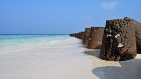 Rocks of Lakshadweep. royalty free stock image
