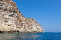Rocks in lampedusa island sicily Stock Image