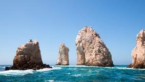 The Rocks at Lands End at Cabo San Lucas Baja Mexico Royalty Free Stock Photos