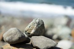 Rocks in Lands End, San Francisco. The view in spring in Lands End, San Francisco, CA, U.S stock image