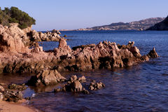Rocks and landscape typical of Sardinia Royalty Free Stock Photography