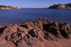 Rocks and landscape typical of Sardinia Stock Images