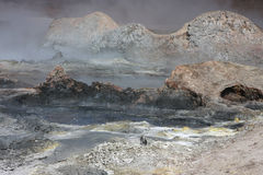 Rocks and lava in Sol de Manana royalty free stock photography