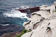 Rocks leading to the sea Royalty Free Stock Photo