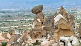 Rock formations in Cappadocia, Anatolia, Turkey. Goreme national Royalty Free Stock Photos