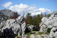Rocks in Lovcen Royalty Free Stock Photos