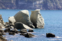 Rocks of lovers Stock Photos