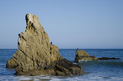 Rocks on Malibu beach. Nice rock on one of the most beautiful and popular beaches of Malibu - El Matador Beach Royalty Free Stock Image