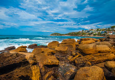 The rocks at Manly beach Royalty Free Stock Photos