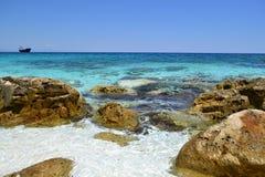 Rocks on Marble Beach Stock Photography