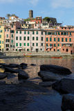 Rocks and marina of Vernazza Stock Image