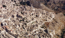 Rocks of Matera Stock Photo