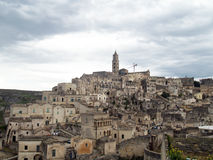Rocks of Matera Stock Image
