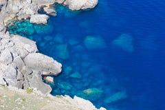 Rocks in Mediterranean Sea Stock Photos