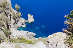 Rocks in Mediterranean Sea Royalty Free Stock Images