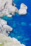 Rocks in Mediterranean Sea Stock Photo