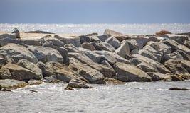Rocks in the Mediterranean Sea Stock Image