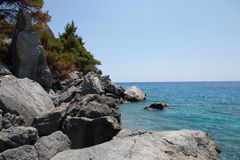 Rocks and mediterranean sea Royalty Free Stock Photo