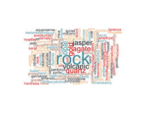 Rocks and Minerals Poster Royalty Free Stock Photo