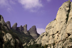 Rocks of Montserrat Royalty Free Stock Photo