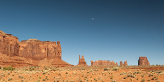 Rocks of Monument Valley National Park at sunset Royalty Free Stock Image