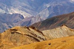 Rocks of Moonland, Himalayan mountains , ladakh landscape at Leh, Jammu Kashmir, India. Stock Images