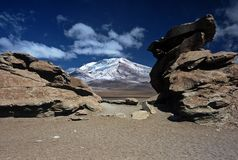 Rocks and Mountain in Bolivia,Bolivia Royalty Free Stock Image