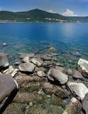 Rocks, Mountain, Ocean View Stock Photo