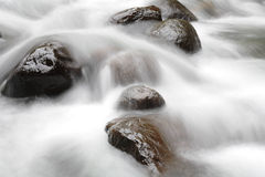 Rocks on a mountain stream Royalty Free Stock Image