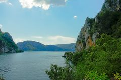 Rocks and mountains on the embankments of river Danube, Romania. Rocks and mountains on the embankments of river Donau, Transylvania, Romania stock image