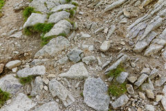 Rocks in the mountains. In Europe Royalty Free Stock Images