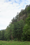 Rocks and mountains in Kirnitzsch Valley, Saxon Switzerland Royalty Free Stock Photo