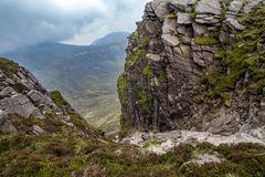 Rocks at Mountains of Mourne. Rock formations at the Mountains of Mourne, County Down, Northern Ireland Stock Photo