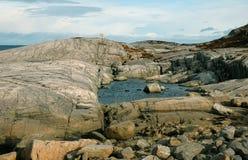 Rocks, mountains, ocean Royalty Free Stock Image