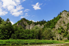 Rocks in the mountains. In Pieniny on Slovakia Royalty Free Stock Photography