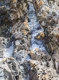 Rocks at Mullimbura point near Bingi. Australia. Stock Images