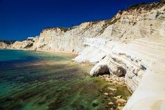 Rocks naturally made of smooth pug, Sicily Royalty Free Stock Photography