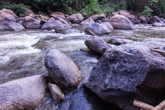 Rocks and nature on the river, Maetaeng Chiangmai Thailand Royalty Free Stock Image